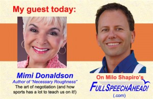 "Milo Shapiro interviews Mimi Donaldson on ""Full Speech Ahead!"""