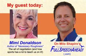 """Milo Shapiro interviews Mimi Donaldson on """"Full Speech Ahead!"""""""